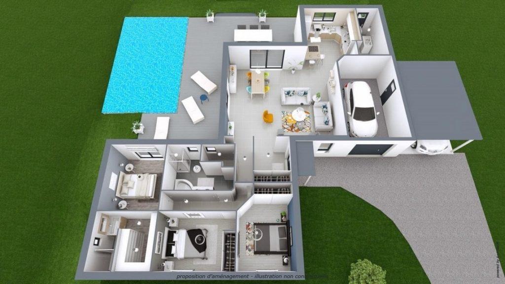 Plan Maison Moderne Maisons Mca 14